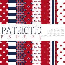 Digital Scrapbooking Freebies: Fourth of July Patriotic Papers Two