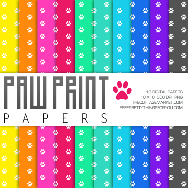 Our Work View Our Digital Print Web Projects: Free Paw Print Digital Paper Pack Part 2