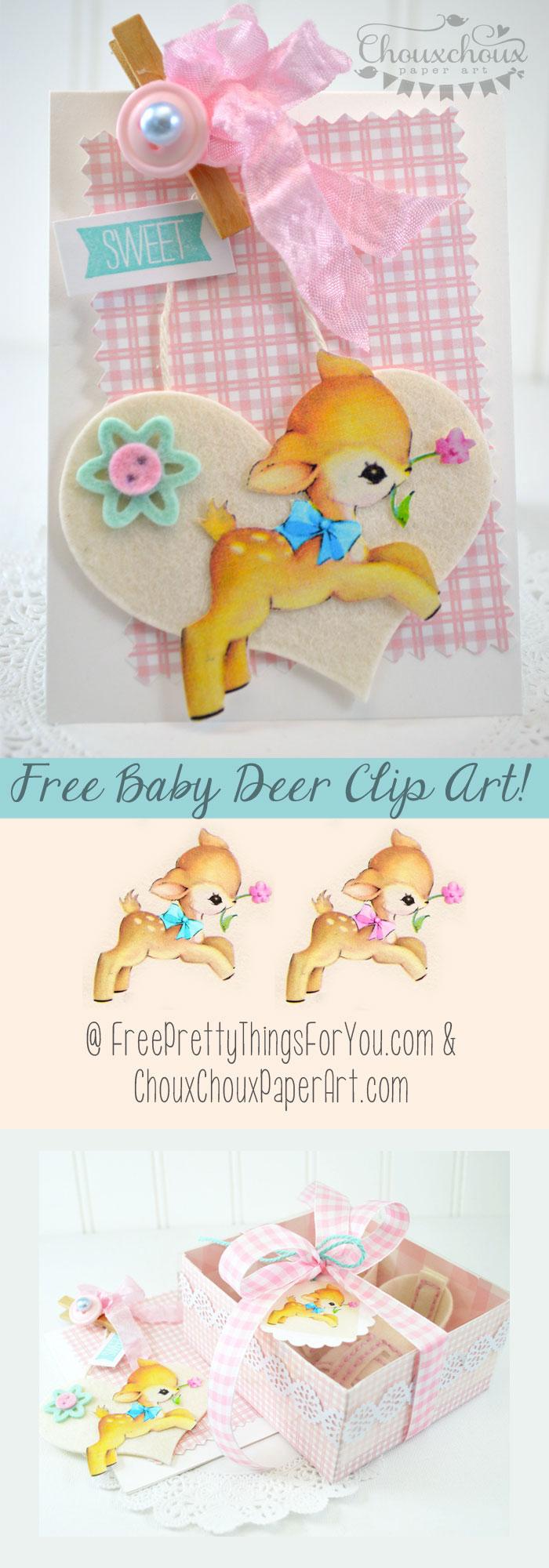 free-vintage-baby-deer-by-FPTFY-4