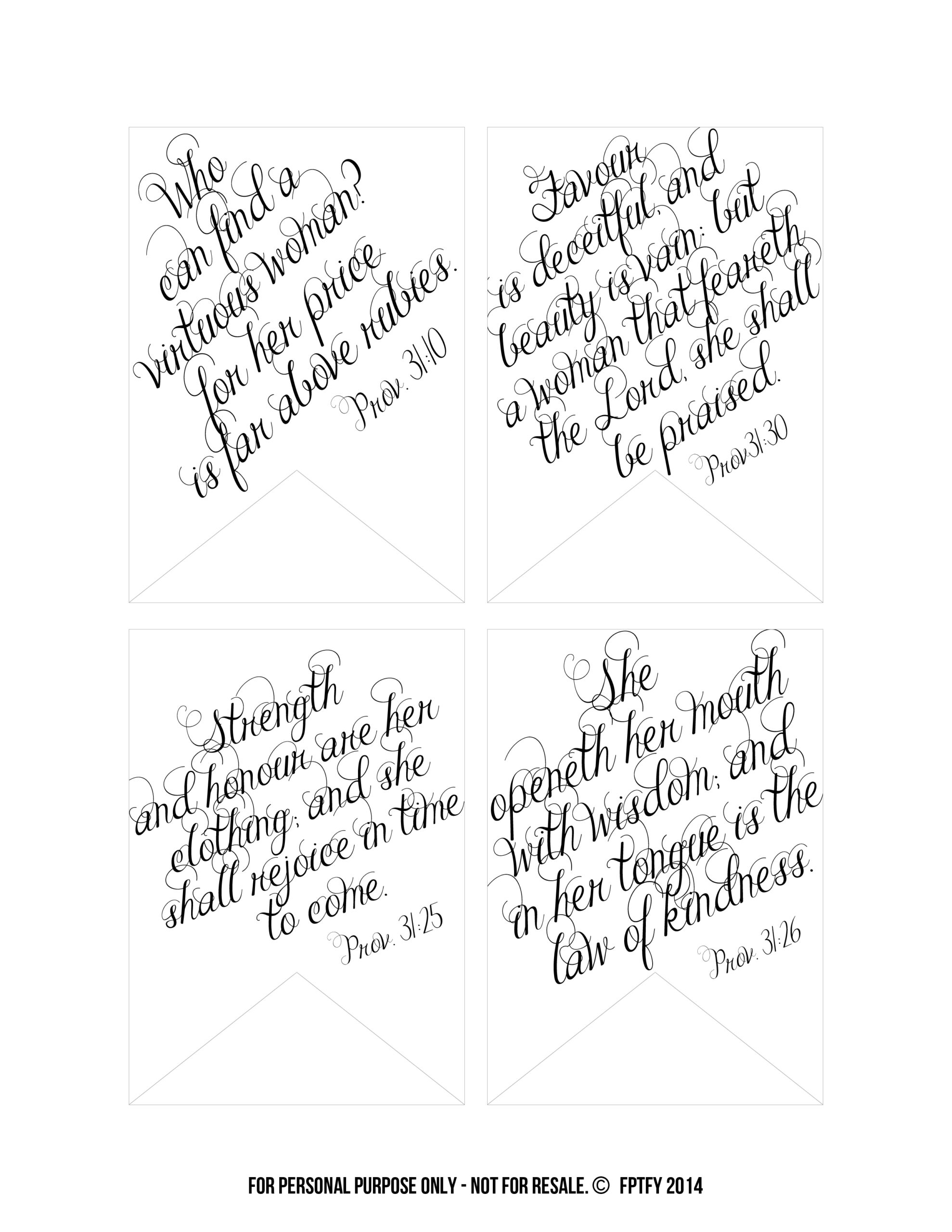 graphic relating to Free Printable Scripture Verses called Printable Bible Verses: Proverbs 31 Tags - Cost-free Wonderful