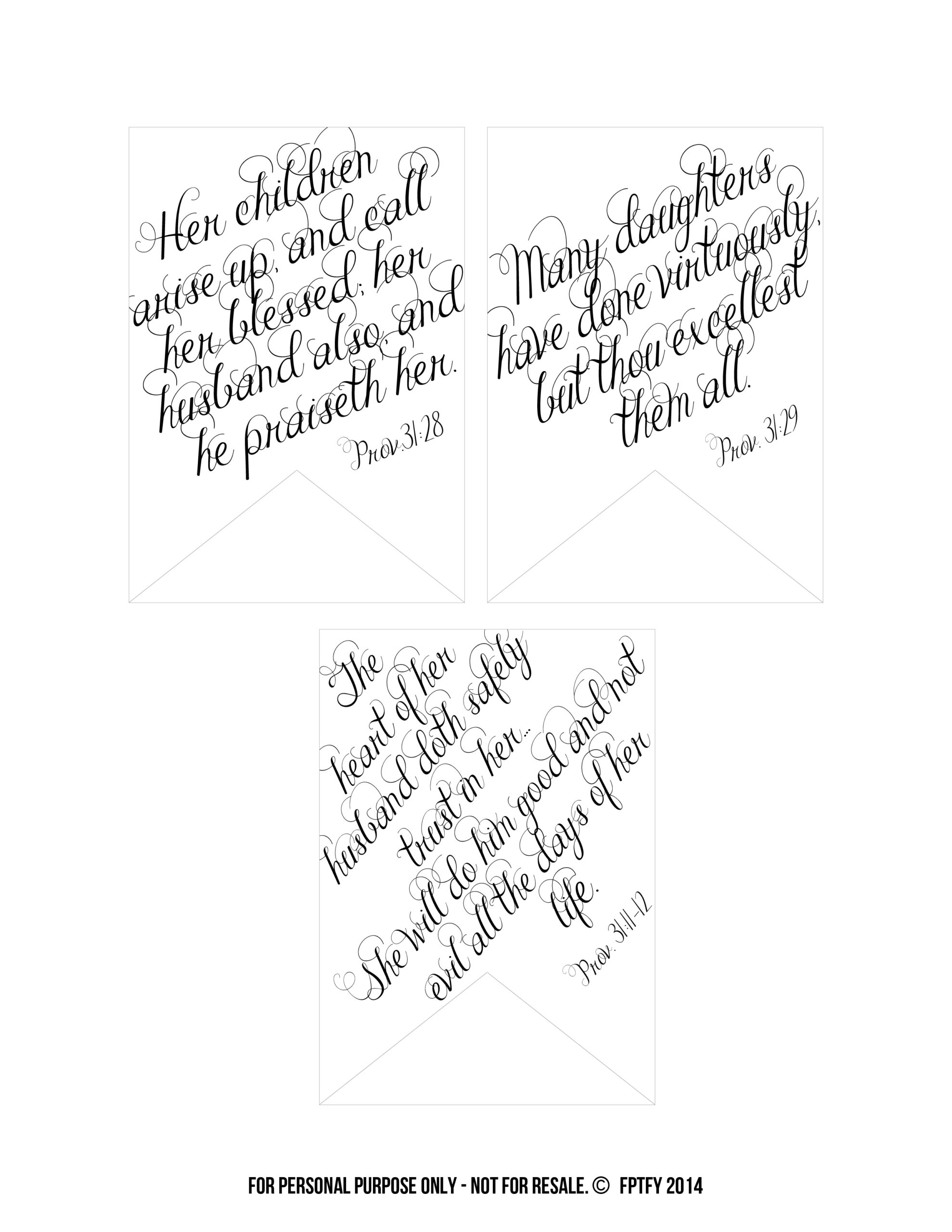 photo about Free Printable Bible Verses Handwriting titled Printable Bible Verses: Proverbs 31 Tags - Absolutely free Extremely
