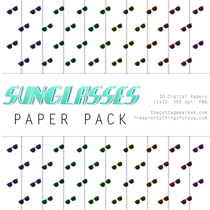 Scrapbook Ideas: Sunglasses Paper Pack Part 2