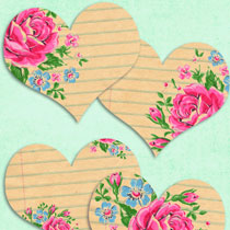 Address Labels: Free Vintage Heart Printables Set No.3