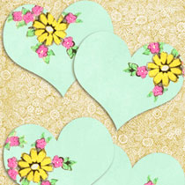 Address Labels: Free Vintage Heart Printables Set No.4