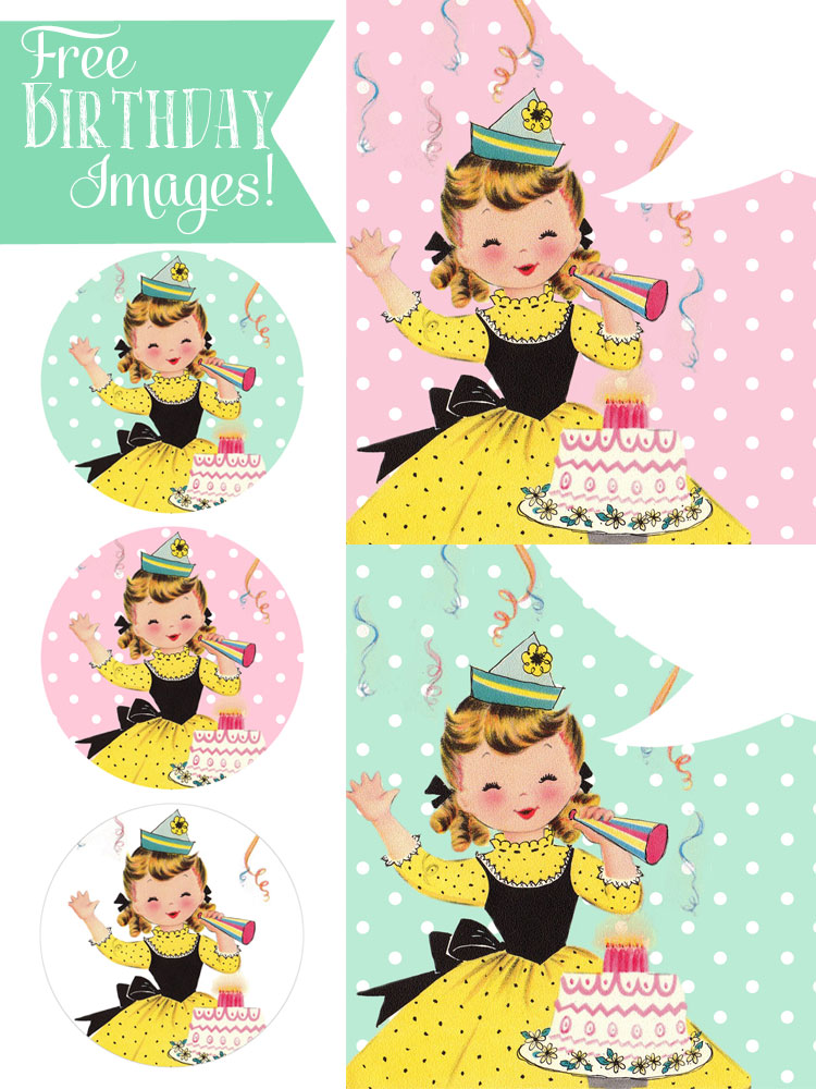 Happy Birthday Pictures: Vintage Girl Surprise - Free ...