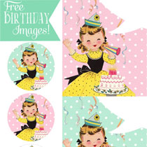 Happy Birthday Pictures: Vintage Girl Surprise