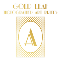 Monogram Printables: Free Gold Leaf Art Prints