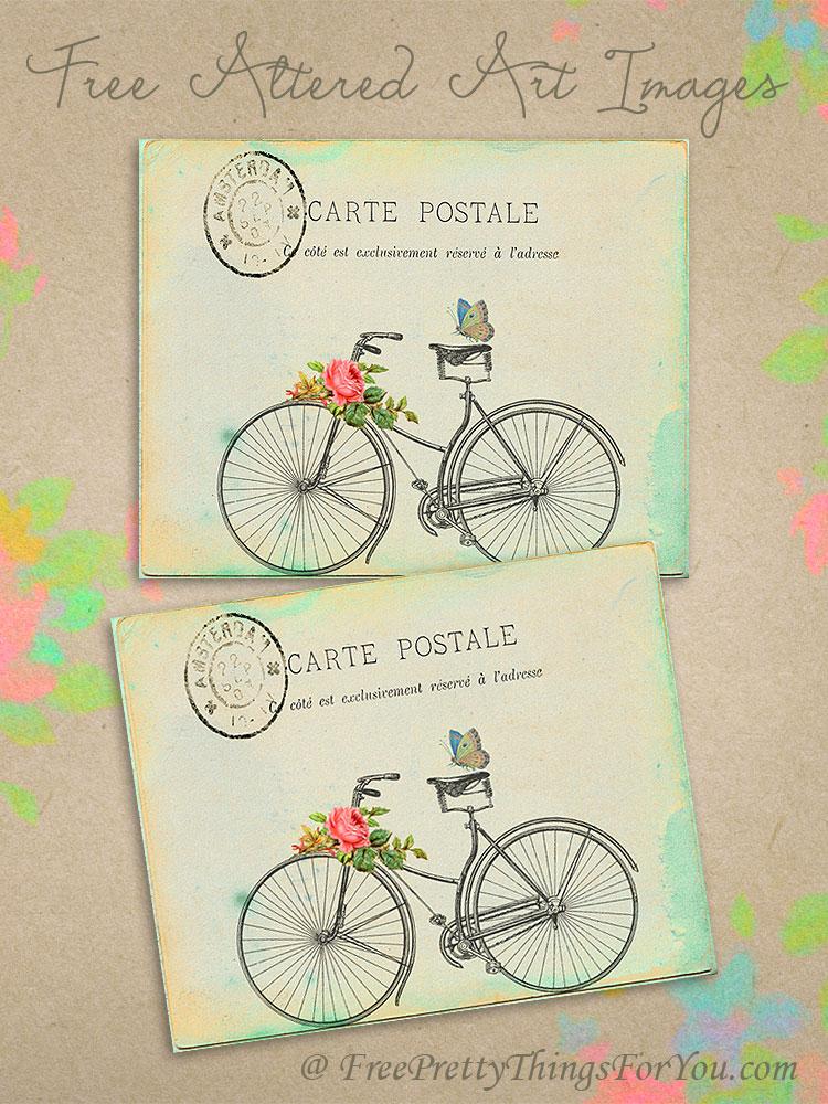 Free Graphics: Altered art Postcard