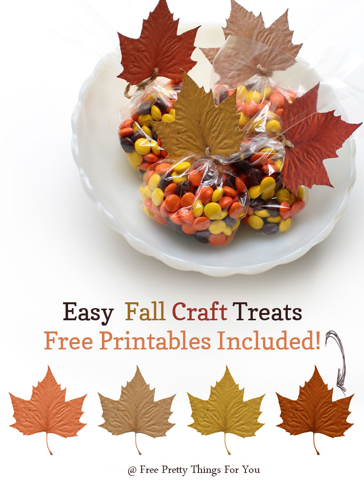 Autumn: Easy Fall Treats Leaf Printables