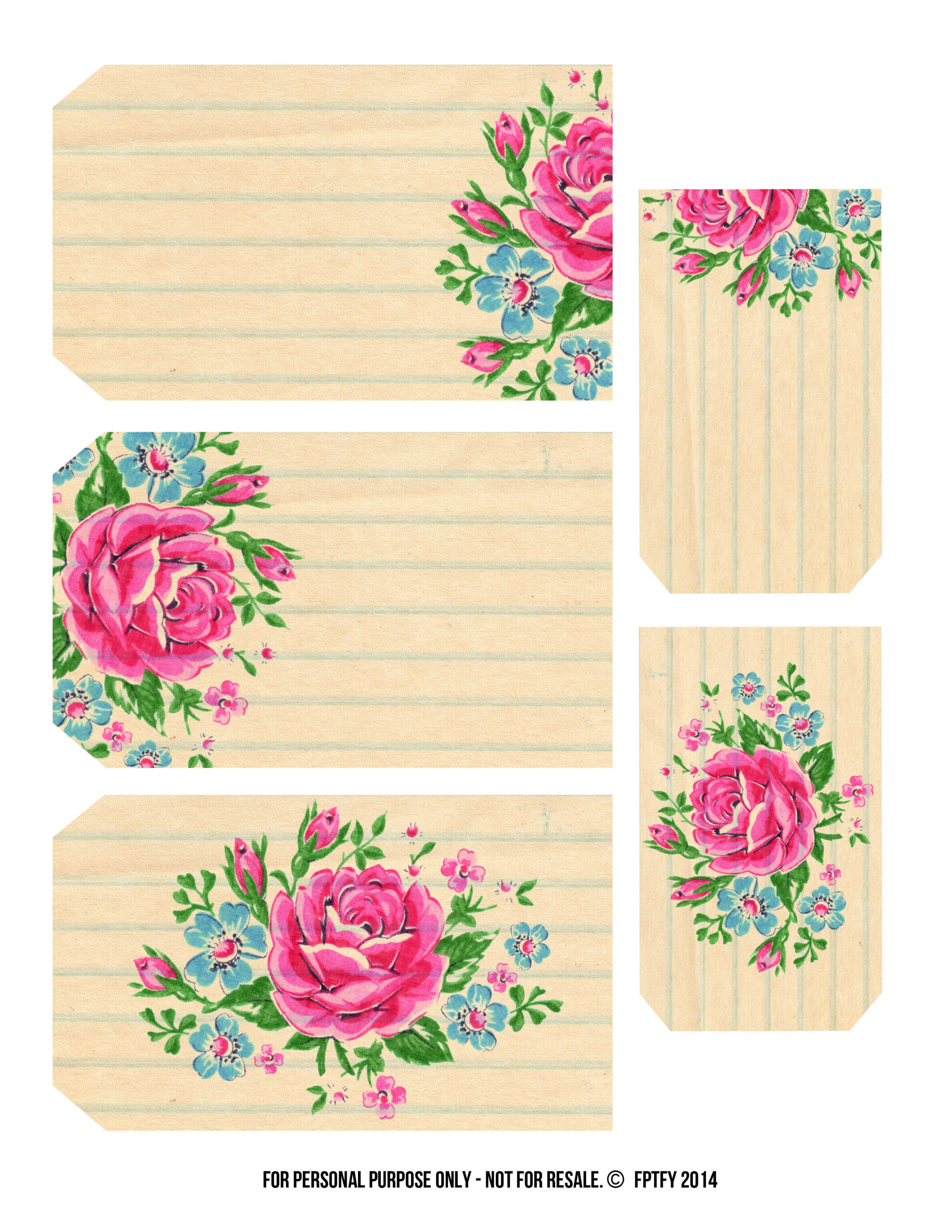 Printable Labels Pretty Floral Tags Free Pretty Things For You