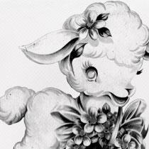 Images: Vintage Baby Lamb Clip Art