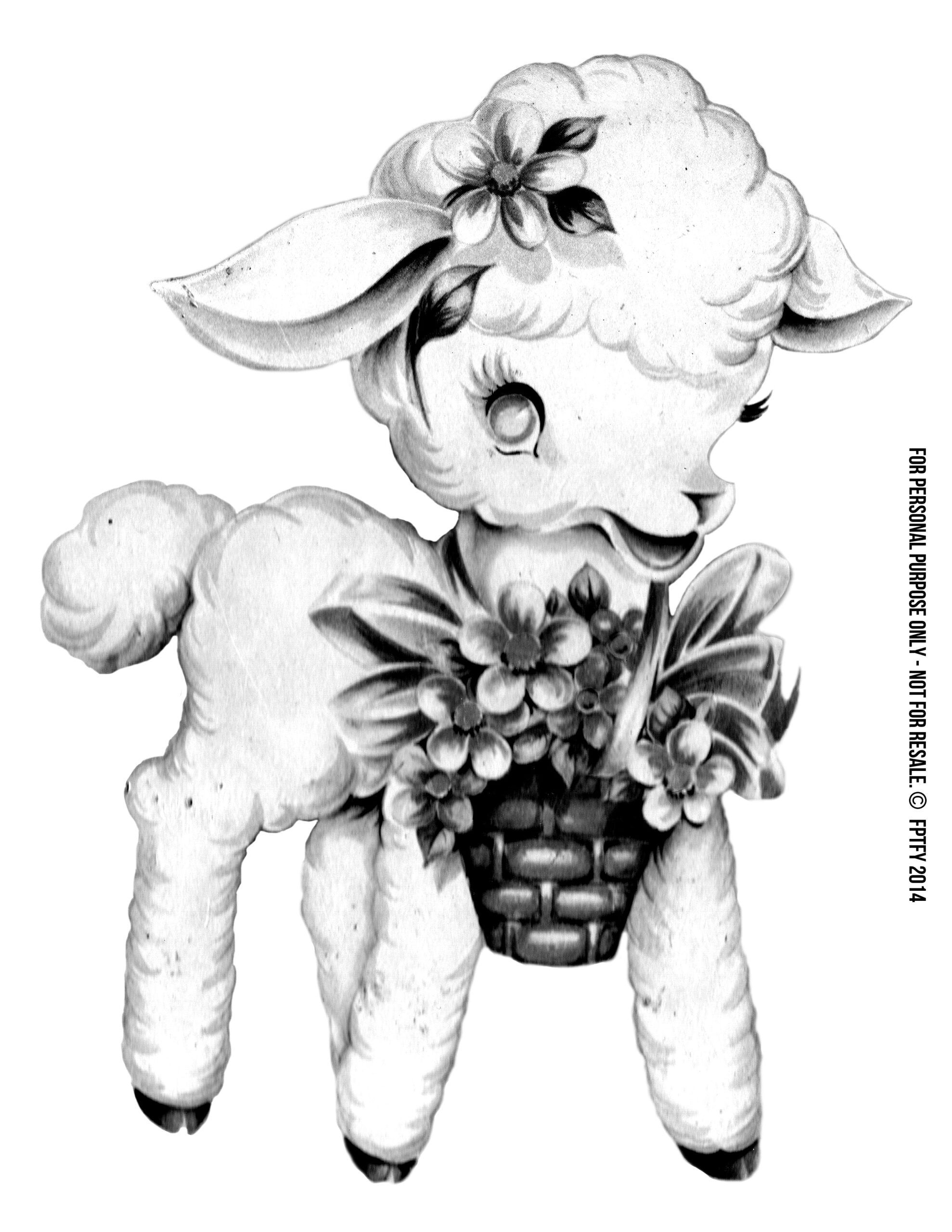 Images: Vintage Baby Lamb Clip Art - Free Pretty Things For You