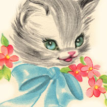 ClipArt: Free Vintage Kitty Image