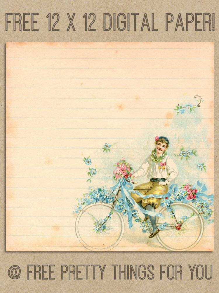 scrapbook_Free_digital_Paper_vitbage_bicycle_1