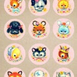 Vintage_Stock_Kitschy_Baby_Animal_Circles_FPTFY_2