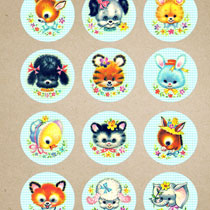 Kitschy: Baby Animal Printables – Blue Version!