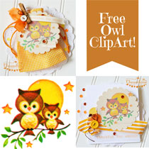 Free Vintage Clip Art: Whoo Loves You Owl Image
