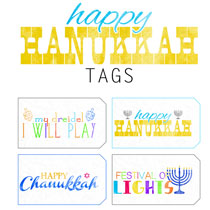 Free Happy hanukkah Printable Tags Part 1