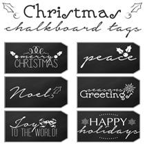 Free Printable Christmas Gift Tags: Chalkboard
