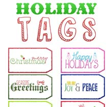 Fun and Fresh Free Holiday Tags Part 2