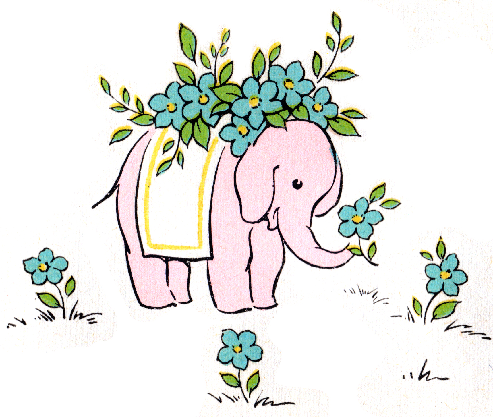 Elephant Clip Art: Pretty in Pink - Free Pretty Things For You