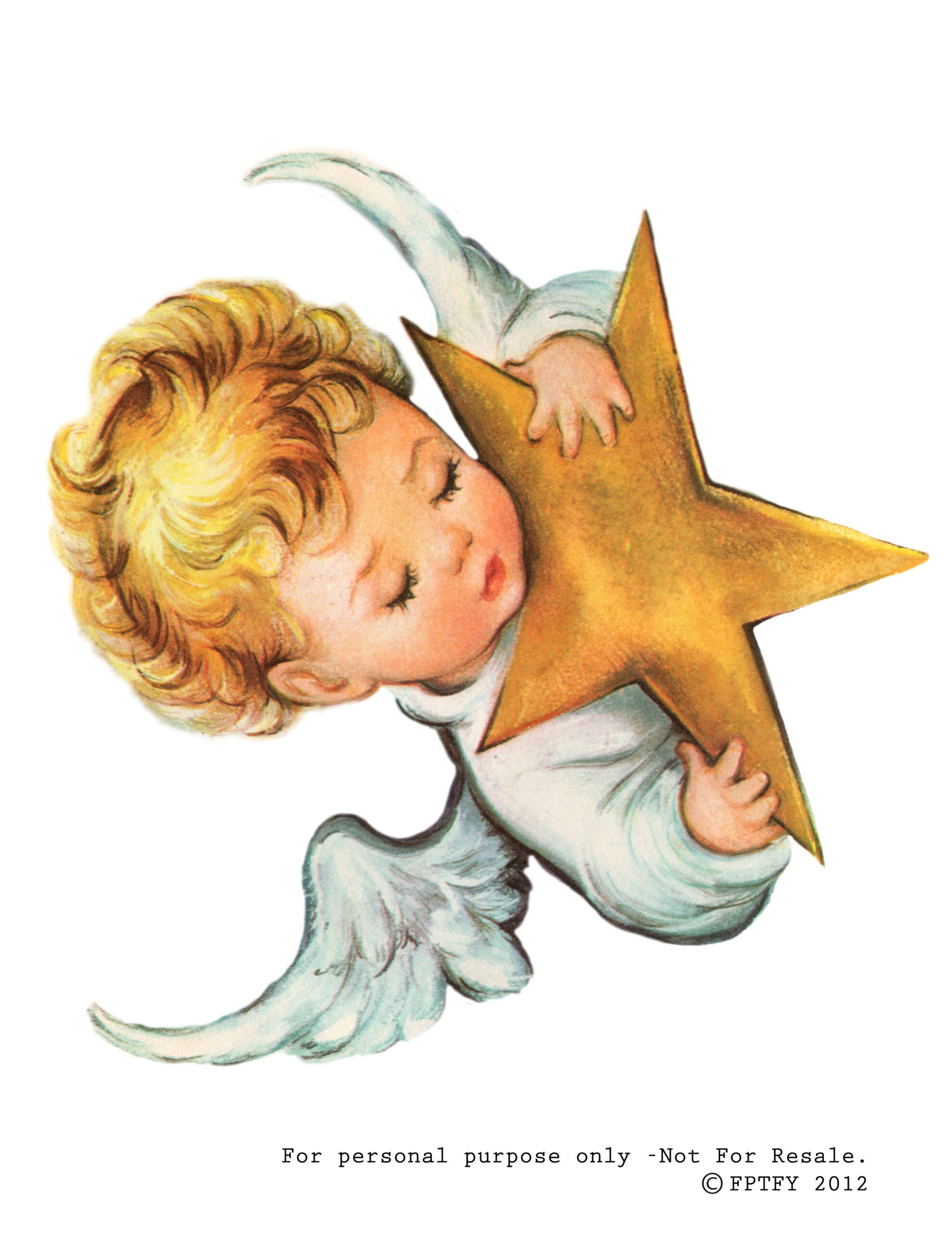 Clip Art: Free Baby Angel Image Greeting Card By Lori ...