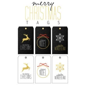 Christmas: Printable Tags Part 2