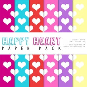Free Printable: Happy Heart Paper Pack Part 1