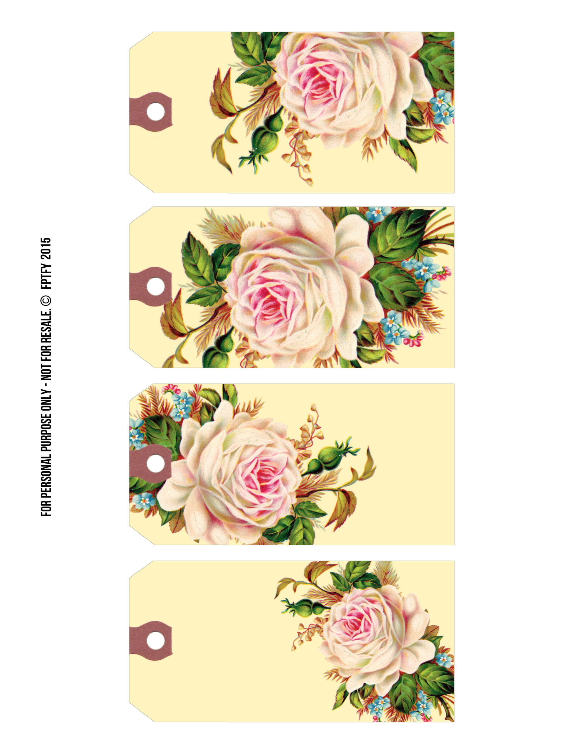 Free printable gift tags vintage rose manila tags free pretty to download click negle Image collections