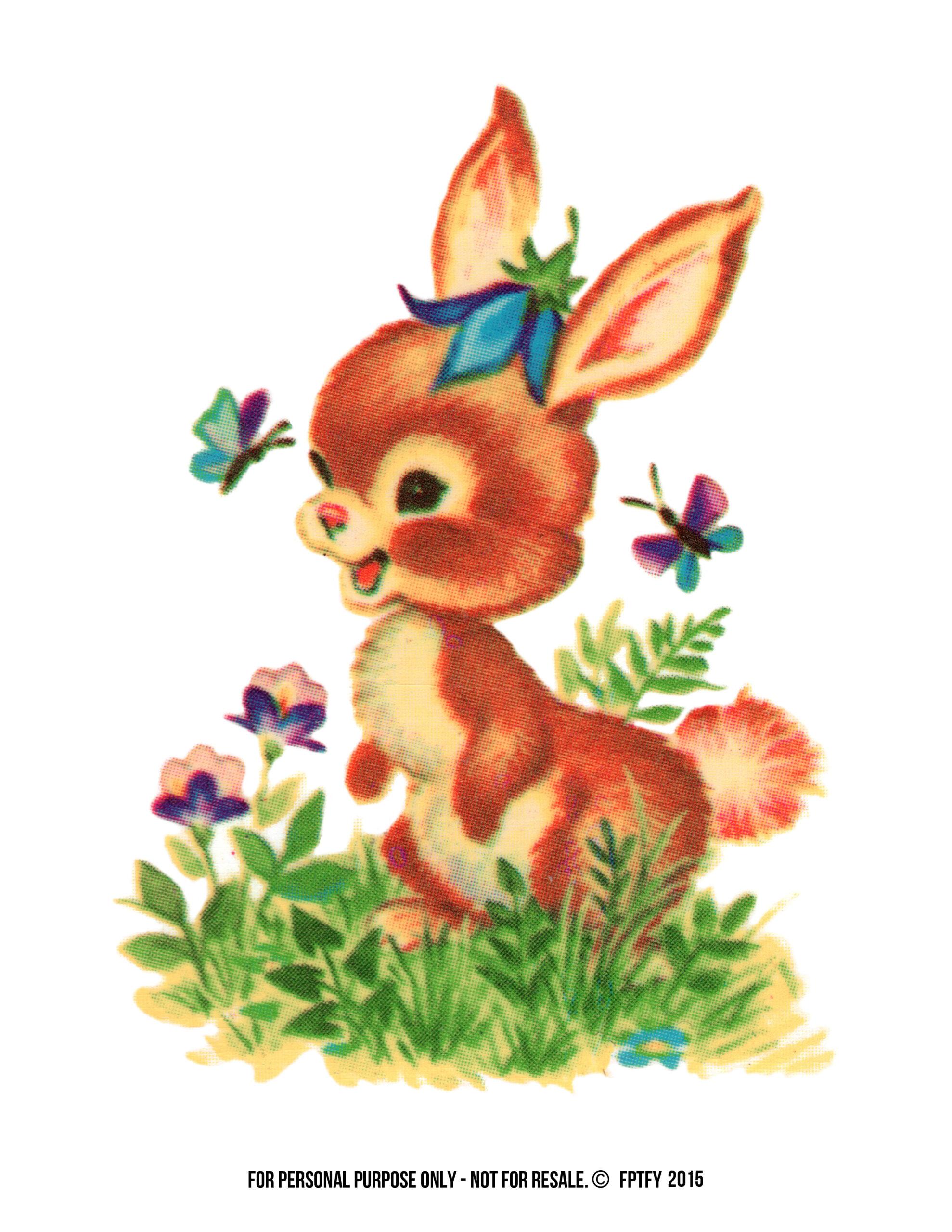 free stock photos crazy adorable vintage bunny image free