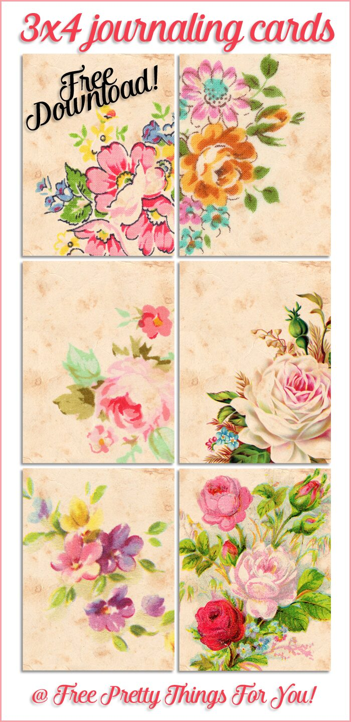 Free_Journaling_Cards_3x4_Vintage_Florals_1
