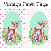 Hang Tags: Adorable Vintage Fawn Printables