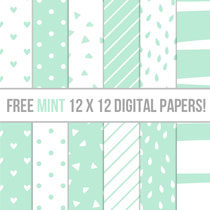 Free Mint Scrapbooking Papers