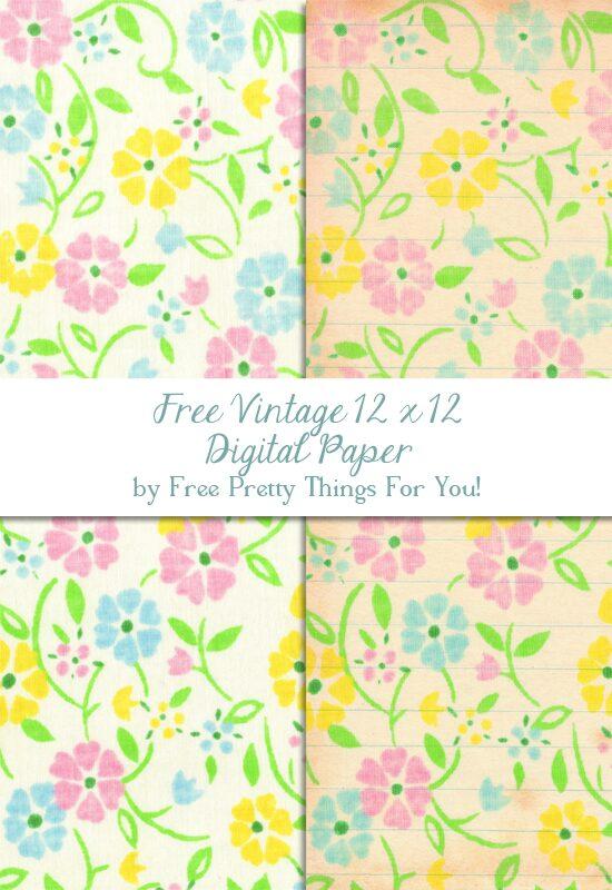 Free_digital_scrapbooking_paper_vintage_sheets_pretty_PFTFY_1
