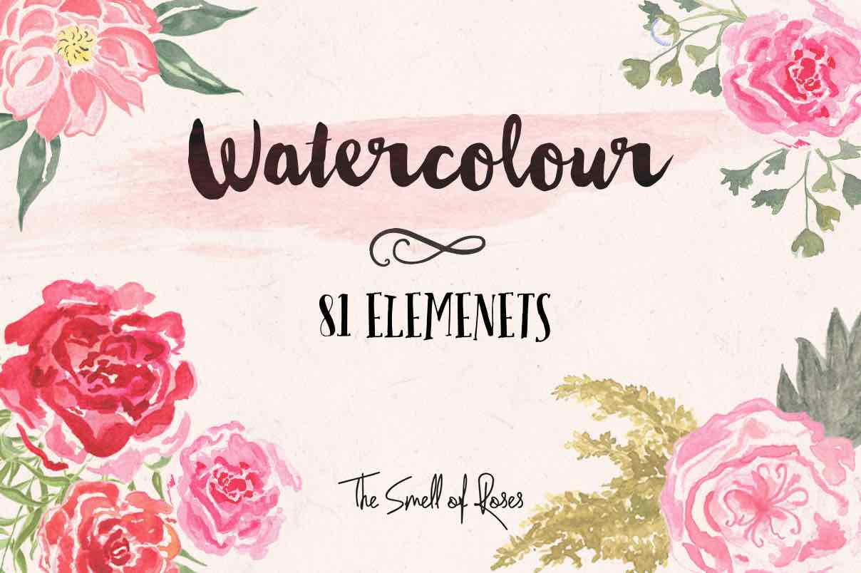 watercolor flower1-4