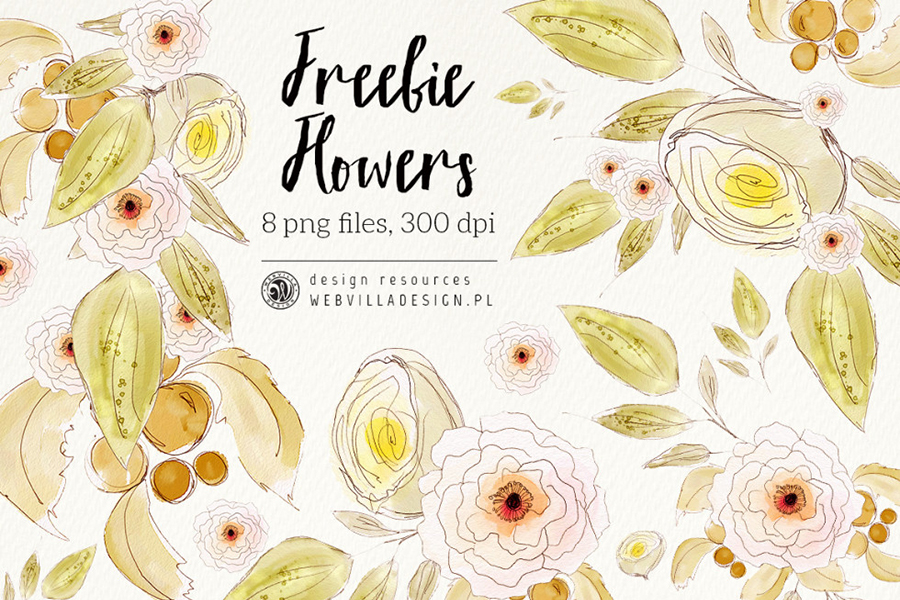 5-Free_Watercolor_Flowers-freedesignresources