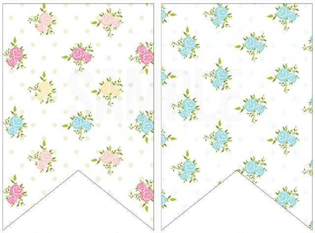 Floral-Printable-Pennants