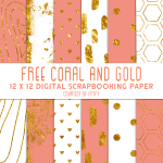 scrapbook-Free-Digital-Paper-coral-Gold-and-white-FPTFY-3