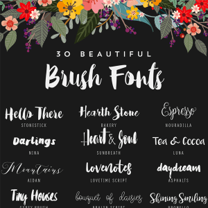 30 Beautiful Free Brush Fonts