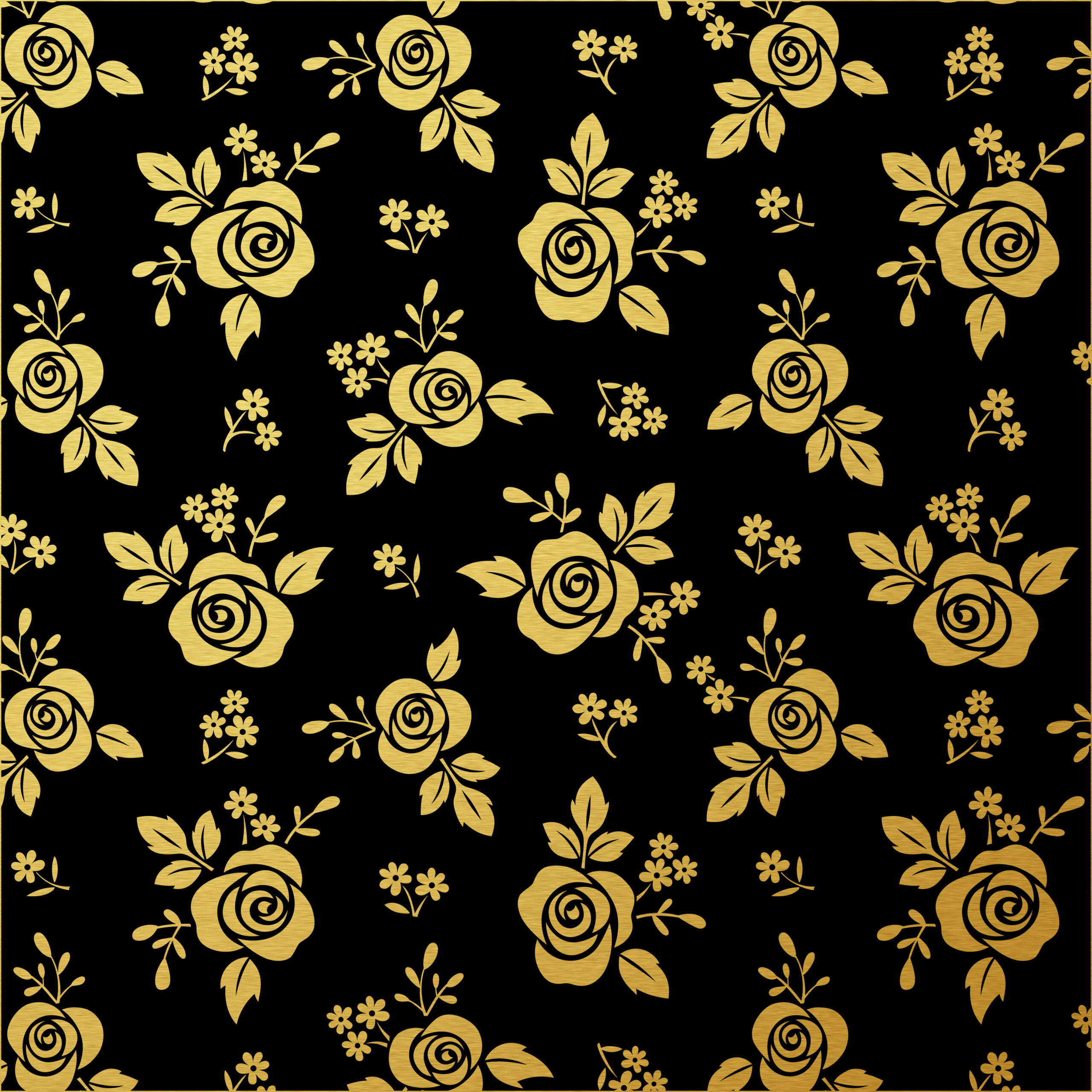 Scrapbook Paper Black White And Gold Leaf Free Pretty Things For You