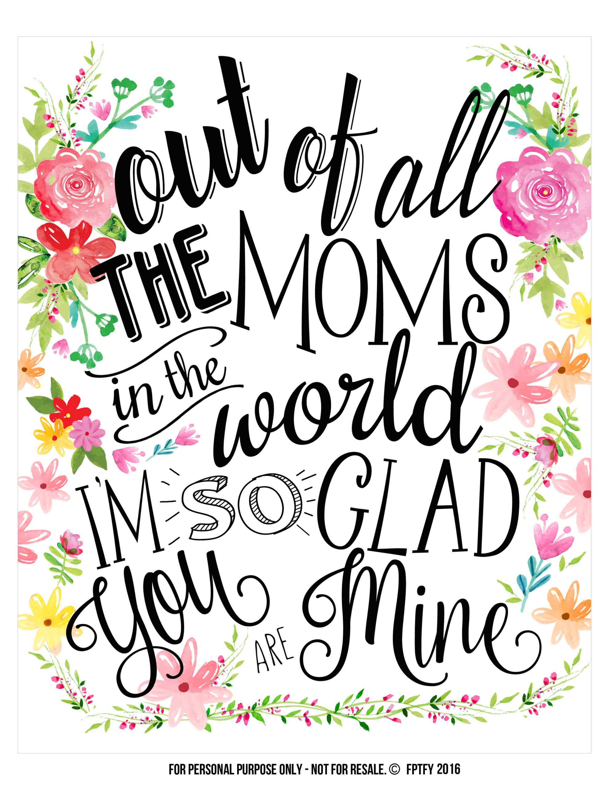 Marvelous creative mothers day gifts Free printable FPTFY