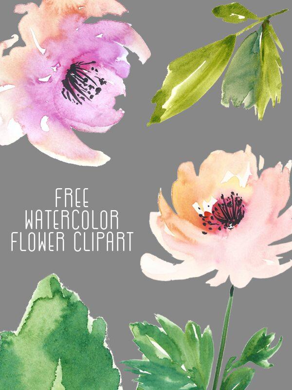 free-flower-watercolor-clip-art-Create-the-cut-1