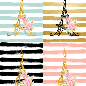 Scrapbook-Modern Chic Parisian Printables 12×12 and 4.25×5.5