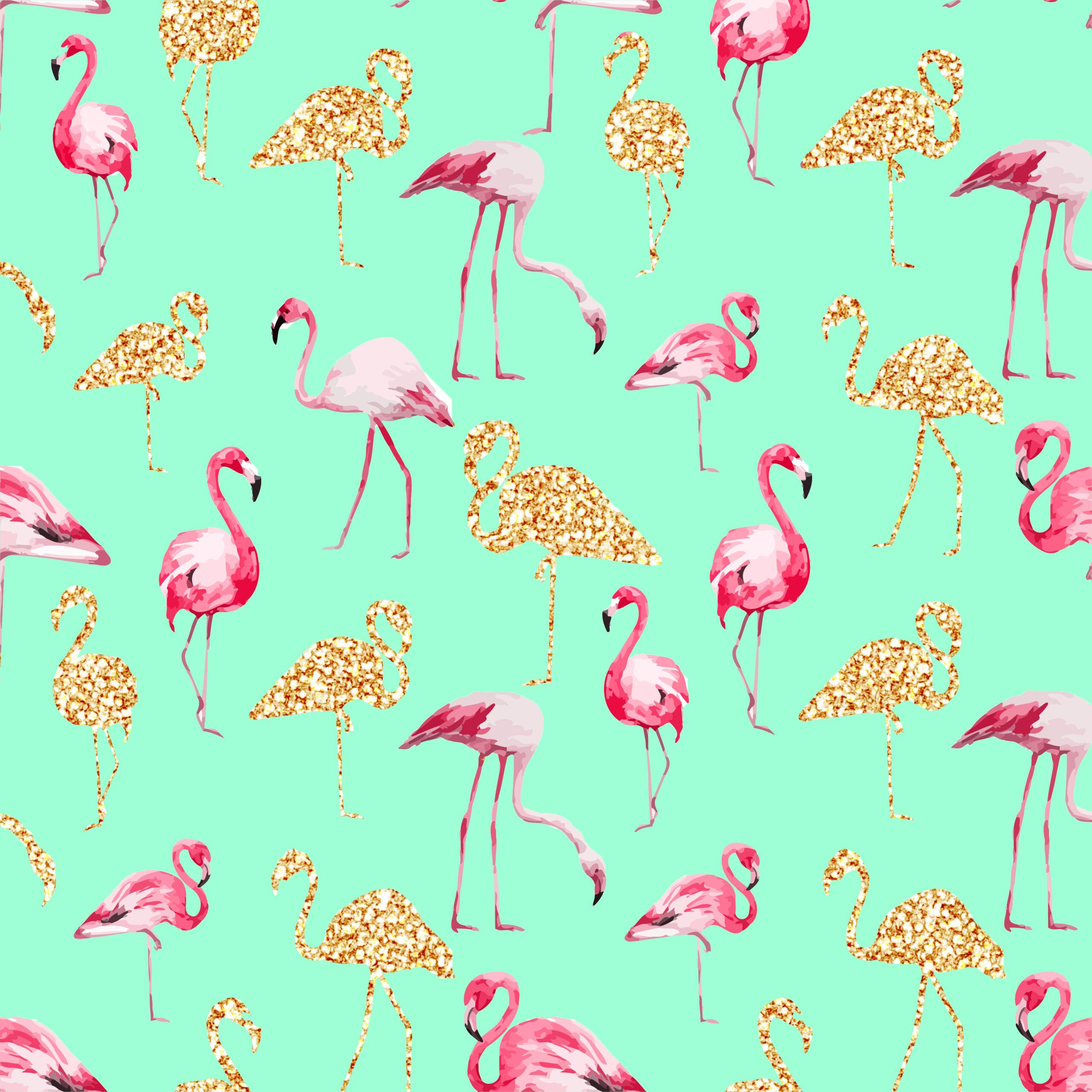 Digital paper Seamless pattern Flamingo clipart watercolor clipart Summer tropical clipart Flamingo digital paper Pink paper pack Boho paper