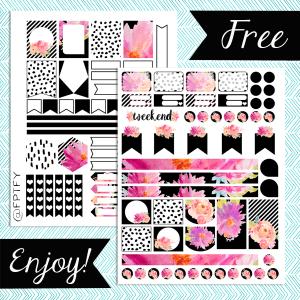 Free Planner Addict Printables- Fuchsia Chic