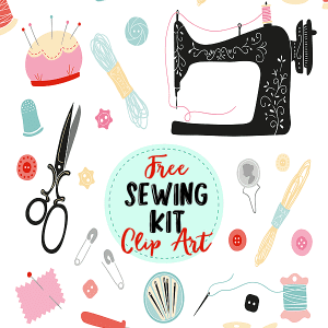 Free Sewing Kit Clip Art Elements