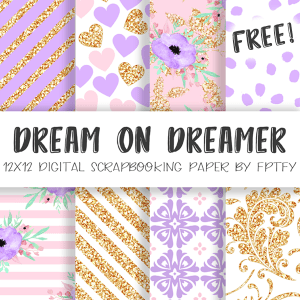 Free Digital Paper-Dream on Dream Lavender Collection