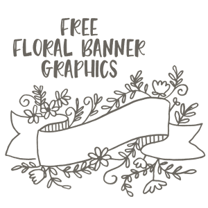 Free Floral Banner Graphics- Set of 4-CU ok!