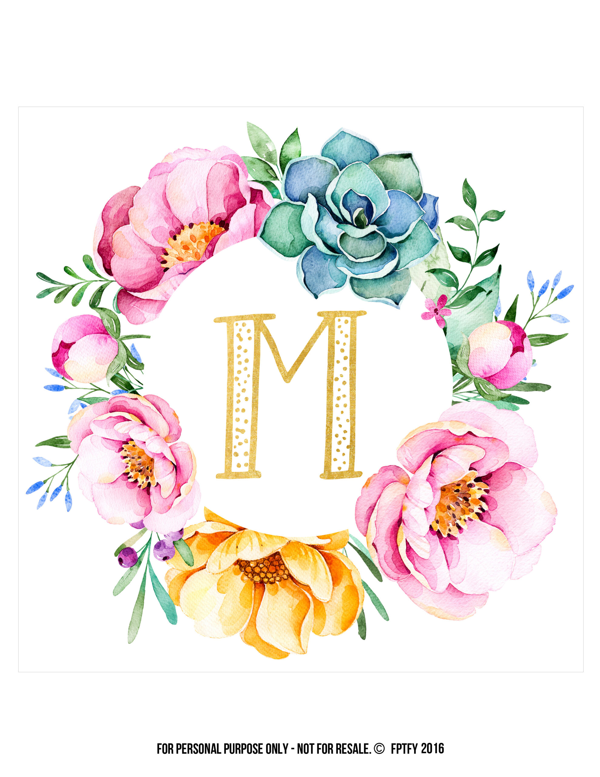 Free-Initial Wall Decor! - Free Pretty Things For You