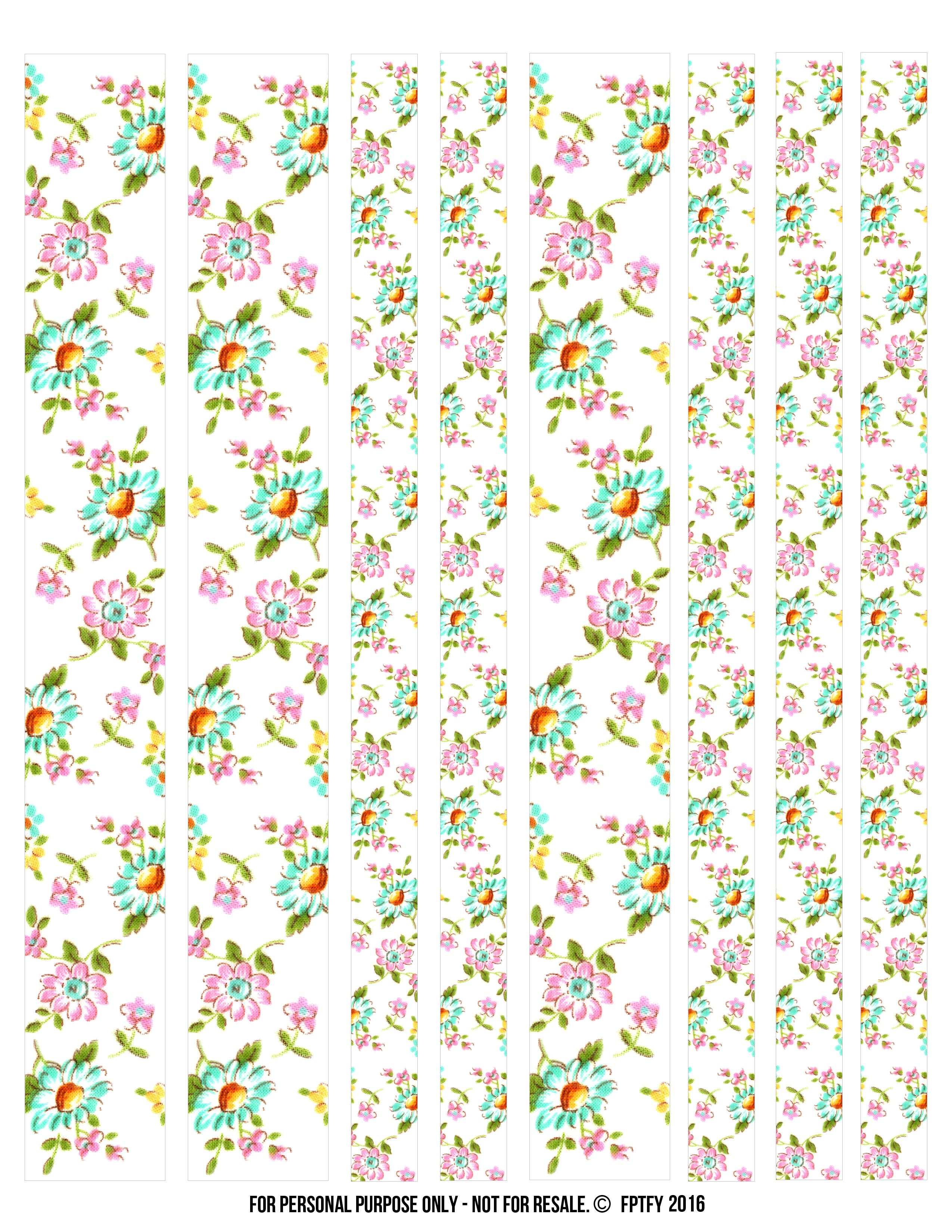 photograph relating to Free Printable Washi Tape referred to as Totally free Floral Electronic Washi Tape! - Absolutely free Rather Factors For By yourself